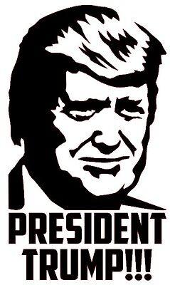 PRESIDENT TRUMP Vinyl Decal Sticker Bumper Wall Window MAGA Donald Election 2020