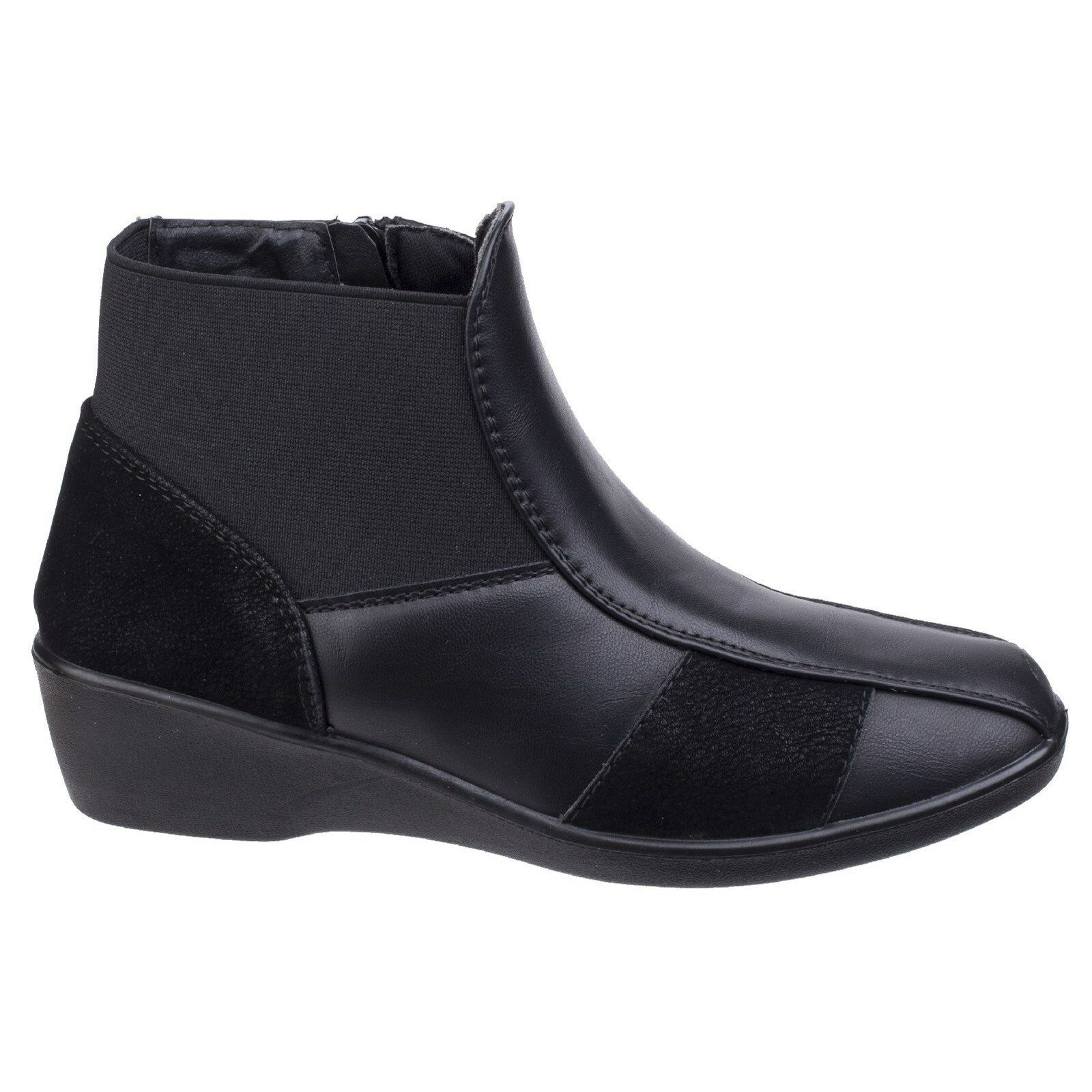 Fleet & Foster Festa Ankle Boots Low Low Low Wedge Pull On Ladies boots UK 3-8 Womens bbee9d