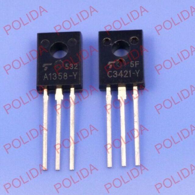 5 Paar oder 10PCS Transistor Toshiba TO-126 2SA1358-Y/2SC3421-Y A1358-Y/C3421-Y
