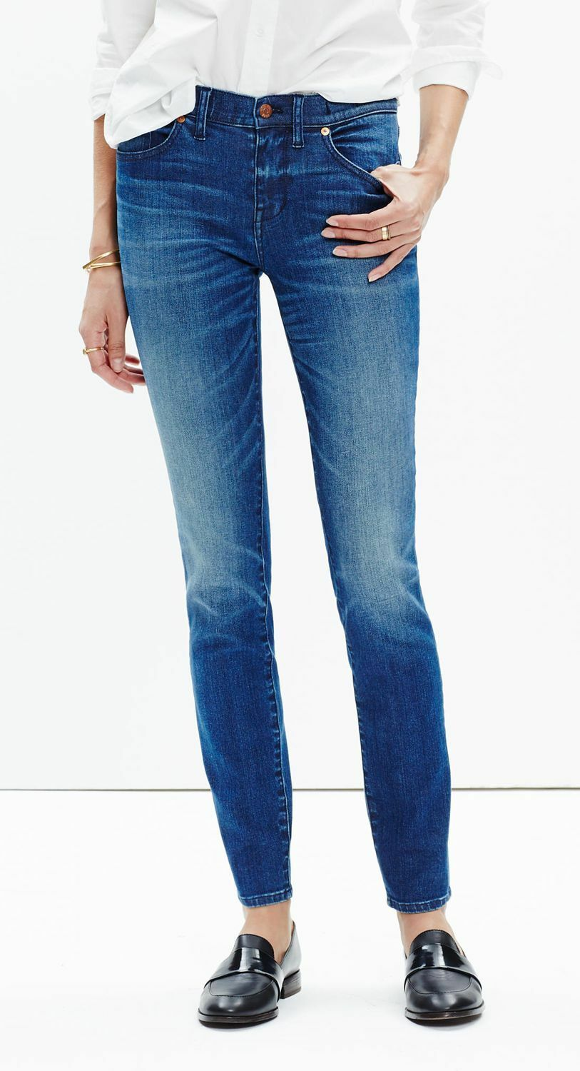 J. Crew Madewell 8  Skinny Jeans Sunnyside Wash EUC Retailed New  128 SOLD OUT