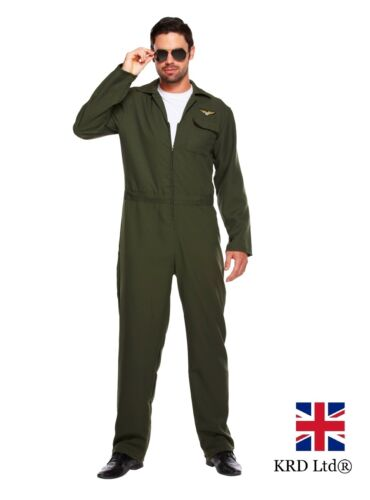Adulto Costume AVIATORE PILOTA uniforme addio al celibato festa di Halloween UK