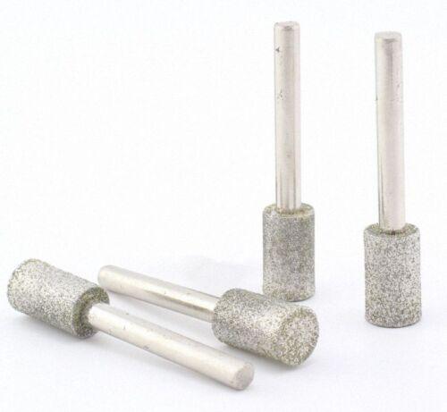 PKG//10 SN-T 3mm Diamond Chainsaw Sharpening Rotary File Burrs Shank dia 3mm