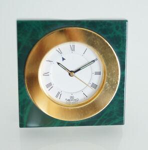 Wecker & Radiowecker LiebenswüRdig Wecker Quadratisch Nepro Grün Mit Effekte Brille Golden N445.054 Herstellung Hochwertige Materialien Weitere Uhren