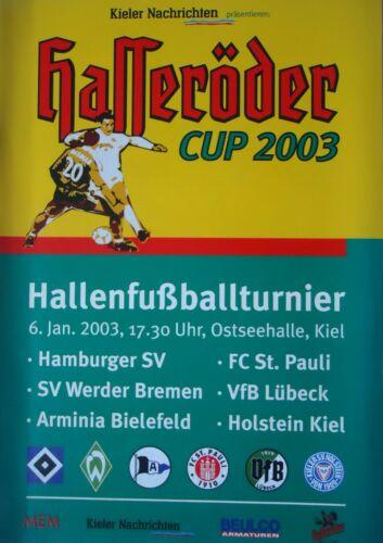 Pauli Werder Bremen Lübeck Bielefeld Programm HT 6.1.2003 Kiel Hamburger SV St