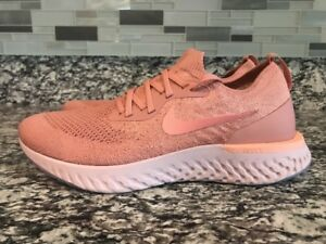 7da4ee89b92a Nike Women Sz 11 Epic React Flyknit Rust Pink Tint Tropical Running ...