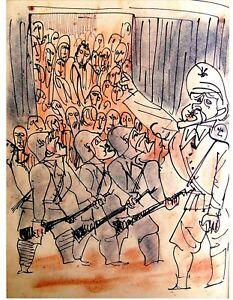 Signed-MARCEL-JANCO-1941-HOLOCAUST-DRAWINGS-Jewish-ART-BOOK-Hebrew-DADA-Israel