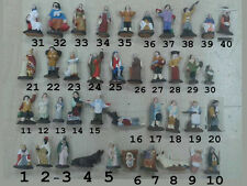 1 pastore art 24 uomo lanterna  Pastori TERRACOTTA 4 CM, presepe shepherds crib