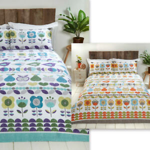 Floral, Petals, Fruits & Birds Duvet Quilt Cover Bedding Set with Pillowcases