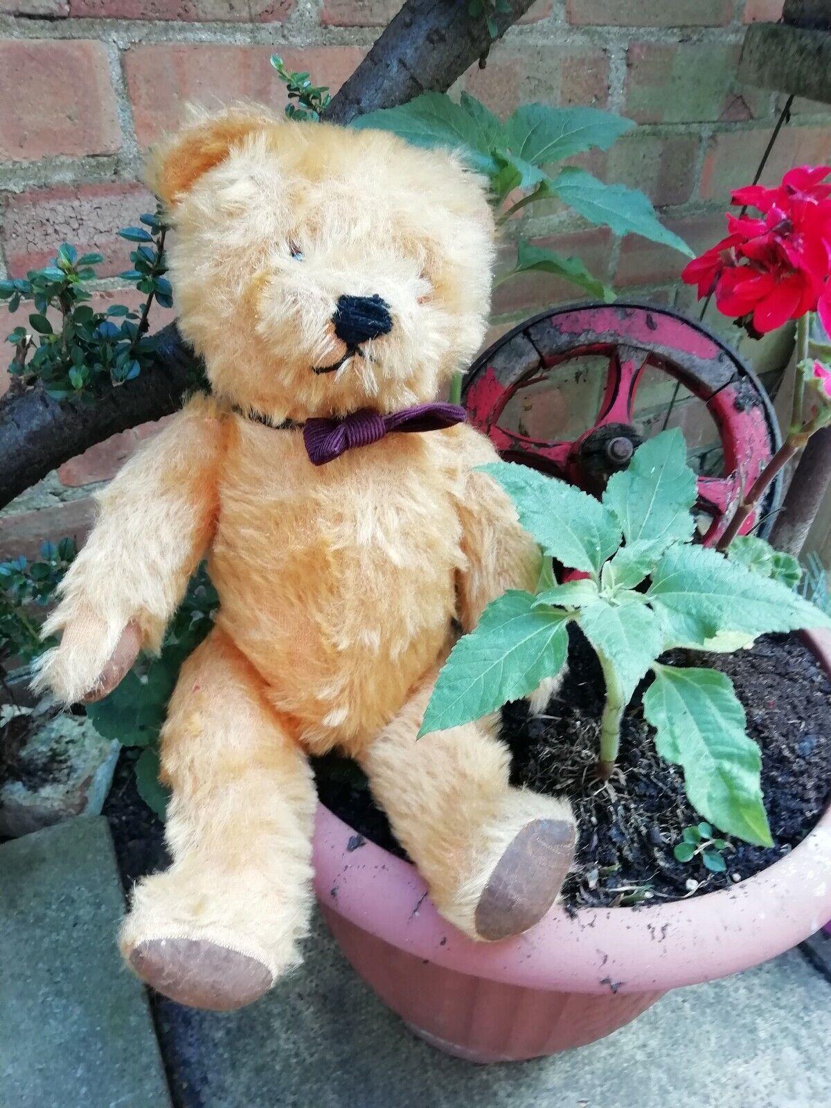 Antico musical di giunti sferici Teddy Bear oroEN Mohair