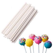 New 20Pcs Plastic Lollipop Sticks Candy Cookies Chocolate Cake Pop Making White