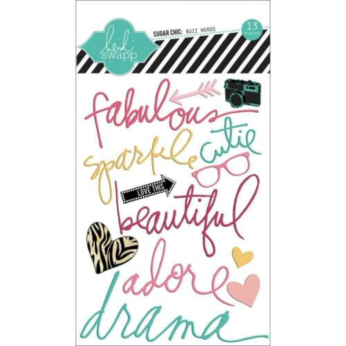 Heidi Swapp Buzz Word Fabulous Epoxy Stickers Planner Photo