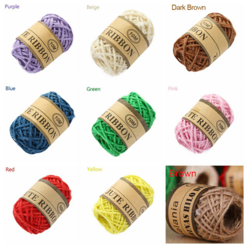 10M Natural Brown Jute Hemp Rope Twine String Cord Shank Craft String DIY Making