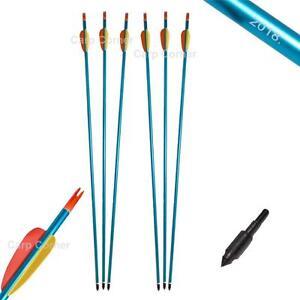 6-x-30-034-in-Lega-di-Alluminio-Tiro-con-L-039-Arco-Frecce-Resistente-Vite-Punta-Per