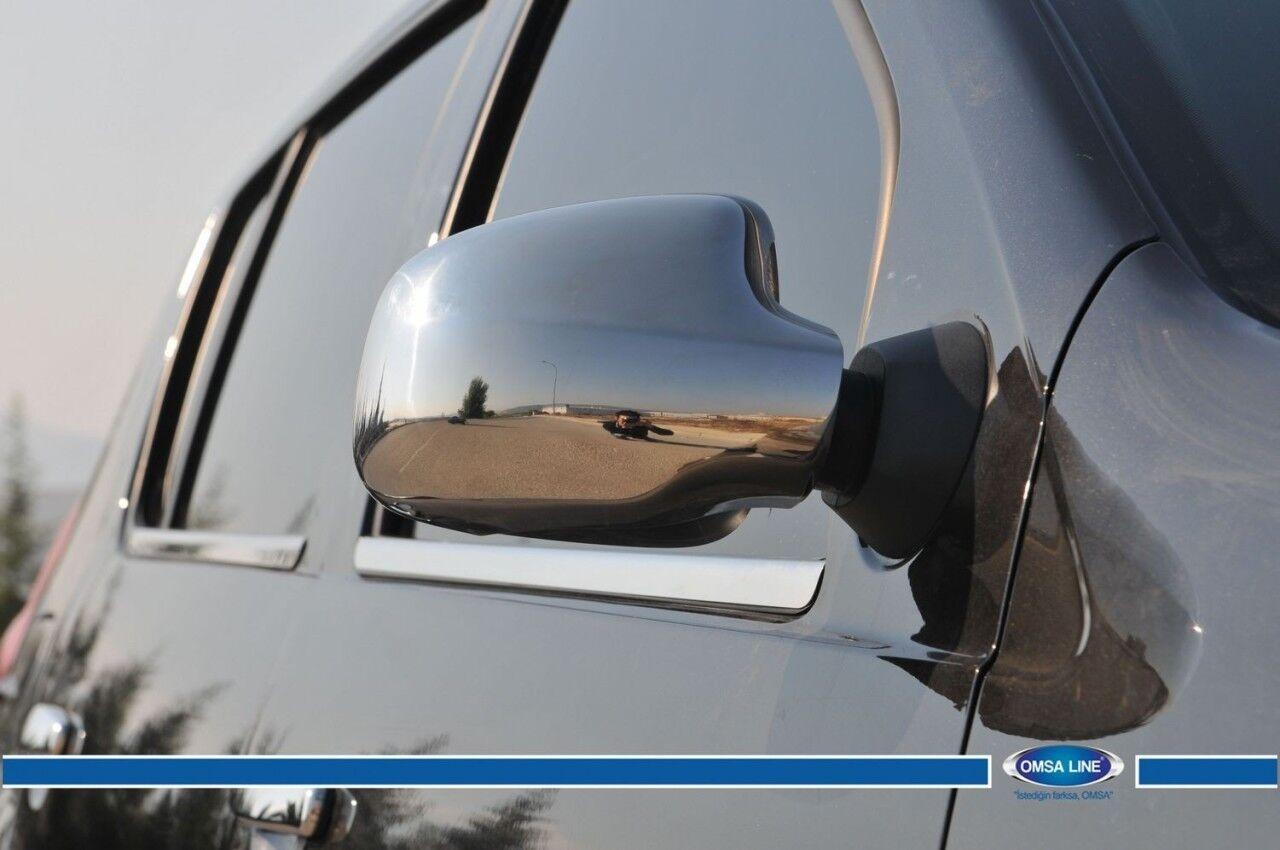 2012-2017 Dacia Duster Full Chrome Mirror Cover 2Pcs S.Steel