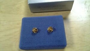 Collectible-Avon-14K-Gold-Filled-Rose-Earrings-in-original-box