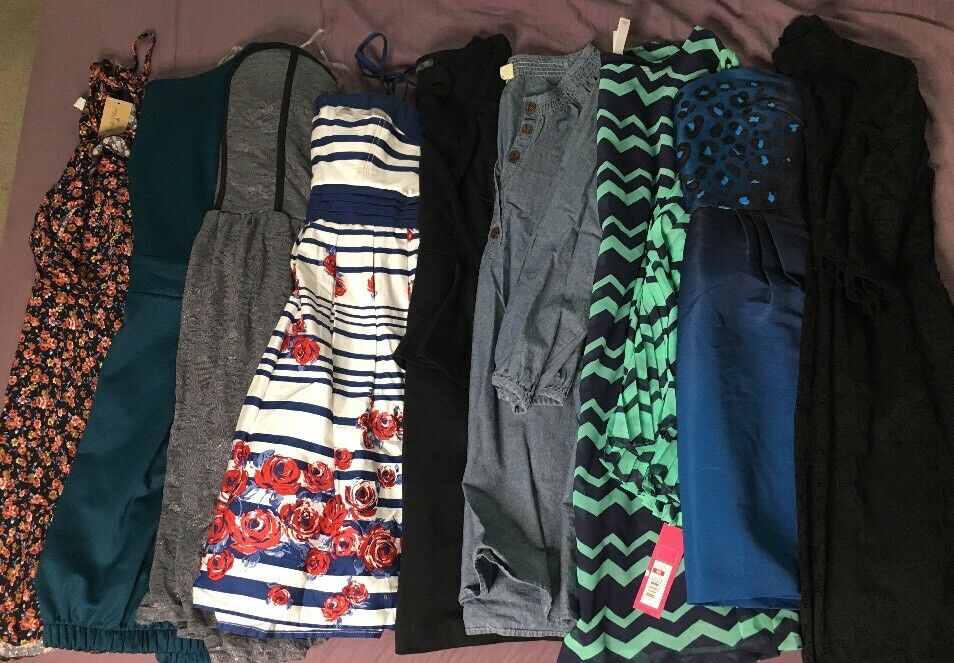 Women Junior Girls Dress Summer Clothes Lot Size XXS XS Small Medium Lot Of 10
