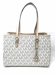 new michael kors jet set travel vanilla pvc large ew tote shoulder rh ebay com