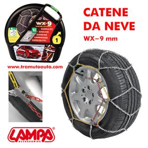 Catene Neve 9mm Lampa WX-9 FIAT PANDA 4X4 Gruppo 5 gomme 165//70r14 GD02007
