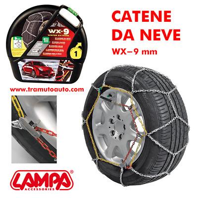 Catene Neve 9mm Lampa WX-9 Omologate Gruppo 12,5 pneumatici 275//35r18 GD02020