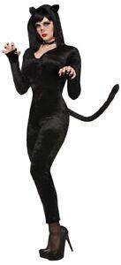 Forum Novelties Sly Kitty Cat Costume, Black, UK Size 10-14