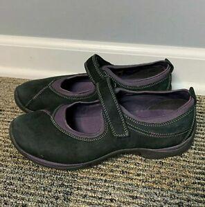 ECCO-Women-039-s-Shoes-Size-EU-38-US-7-7-5-Suede-Mary-Jane-Black-Purple-Comfort