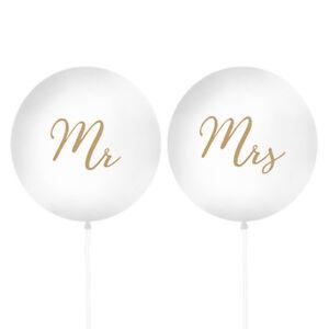 Xxl Luftballons Mr Mrs Gold 100 Cm 2 Stuck Hochzeit
