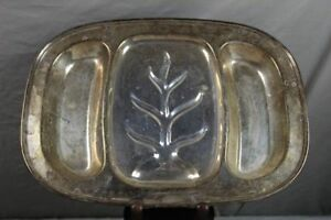 Tafelsilber English Silver Mfg Corp 70 Made In U.s.a Große Versilberte Platte 1,28 Kg /s321