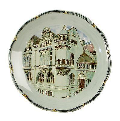 Spencer Edge Vintage Hand Painted Oxford Town Hall Souvenir Sandwich Plate