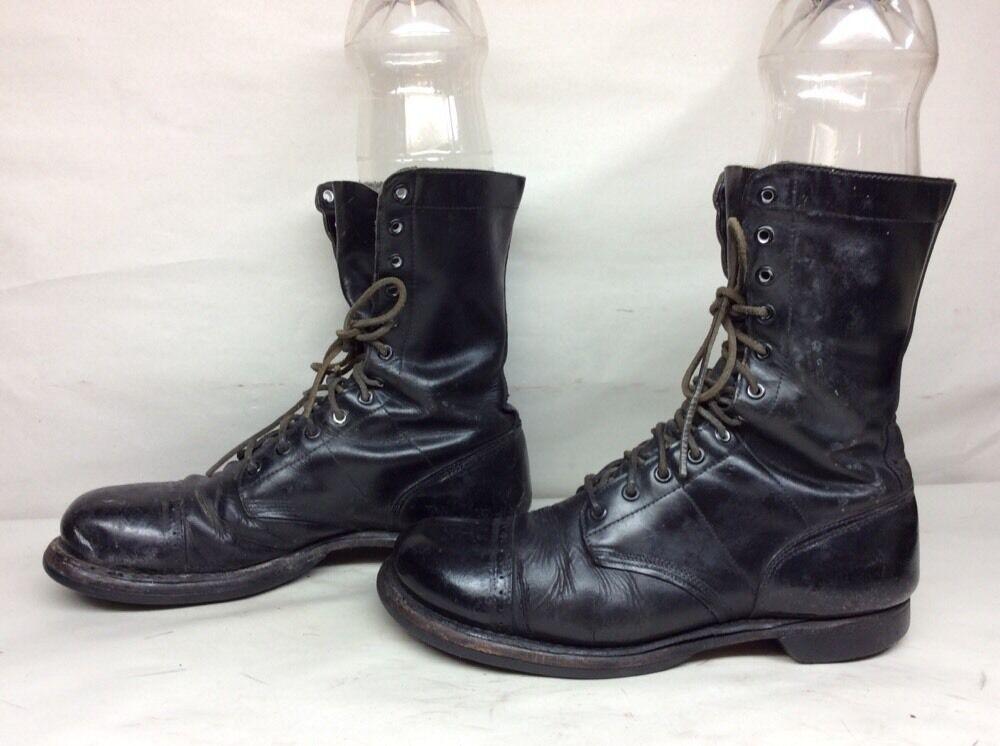 vendita online risparmia il 70% VTG Uomo CORCORAN MILITARY LEATHER nero stivali stivali stivali Dimensione 10 C  offerta speciale