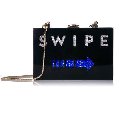 Milly Acrylic Swipe Box Clutch Purse Bag NWT
