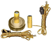 Mason Jar Country Candle Lamp Making Kit With 6' Gold Cord By Pld