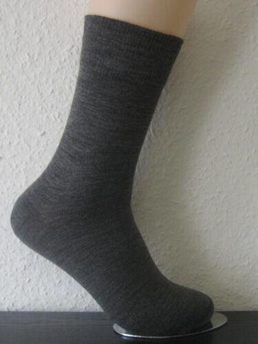 3 paia calze da uomo calze senza elastico 90/% lana antracite-MELANGE XXL 47-50