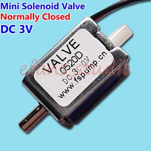 DC 3V DC Solenoide Válvula Mini Eléctrica N//C normalmente cerrado para gas válvula de aire