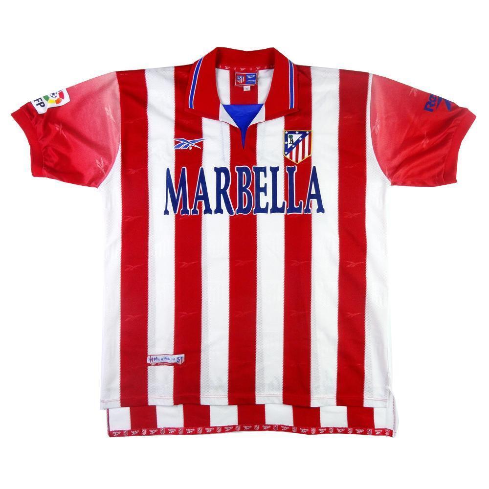 1998-99 Atletico Madrid Maglia Home XL (Top)  SHIRT MAILLOT TRIKOT