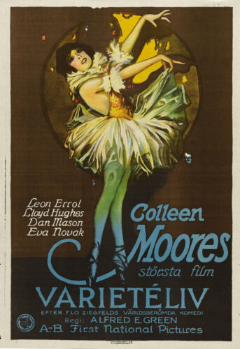 Sally Colleen Moore 1925 vintage movie poster print