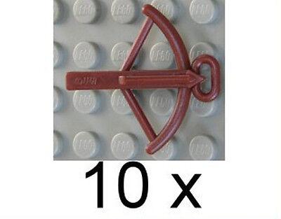 Compiacente Lego - 10 X Mauro Marrone/balestre/reddish Brown Crossbow/2570 Merce Nuova-mostra Il Titolo Originale Una Grande Varietà Di Modelli