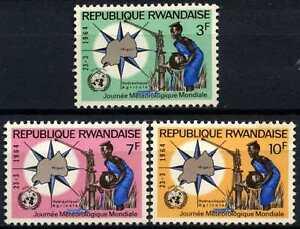 Rwanda-1964-SG-52-54-World-Meterological-Day-MNH-Set-D58742