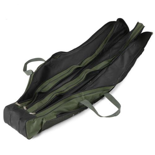 3Layer Angeltasche Rutentasche Rutenfutteral Aussentaschen 130//150cm DE Q8H9