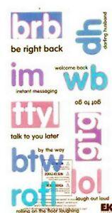 INTERNET JARGON Words - Sticko Phrase Cafe Scrapbooking Sticker SALE