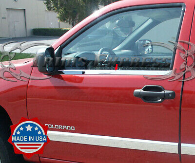 eLoveQ Stainless Steel Chrome Window Sill Trim For 2004-2012 Chevrolet Colorado//GMC Canyon ^Crew Cab Only^