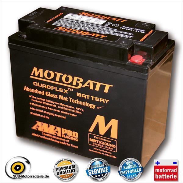 MOTOBATT Batterie MBTX20UHD, Noir