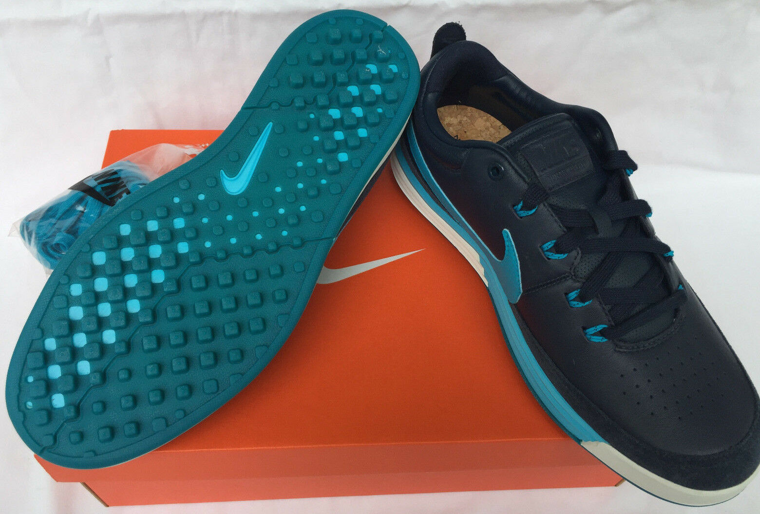 Nike chaussures Golf Lunarwaverly 652780-400 Obsidian Leather Waffle Golf chaussures Nike homme 7.5 c17a64