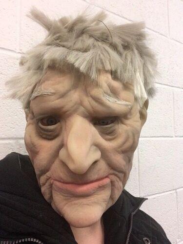 Old Man Mask Realistic OAP Creepy Latex Disguise Halloween Fancy Dress Grandad