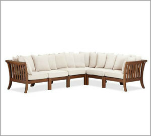 Image Is Loading 6 Pottery Barn Outdoor Chatham Sectional Side Chair