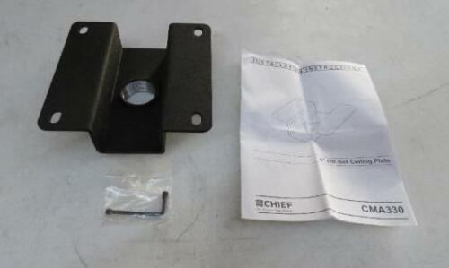 """Chief CMA330 Offset 8/"""" Fixed Ceiling Plate Mount projector cable 1 1//2/"""" NPT"""