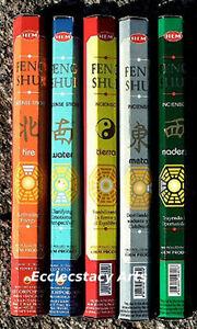 Hem-Feng-Shui-Incense-5-x-20-100-Sticks-Sampler-WATER-FIRE-EARTH-METAL-WOOD