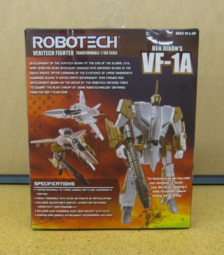 Robotech Macross transformable échelle 1//100 veritechs avec pilotes-new Comme neuf in box