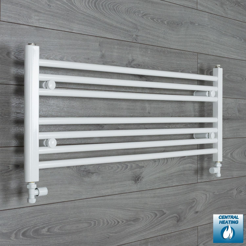 1000mm Wide 400mm High Straight blanc Heated Towel Rail Radiator Bathroom Rad