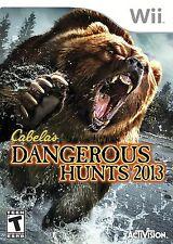 SEALED NEW Wii/Wii-U Cabela's DANGEROUS HUNTS 2013 Video Game Only NO GUN deer