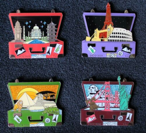 2019 Colorado Destination Imagination Suitcases DI Trading Pin Set